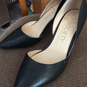 Women's Black Leather Pumps size 9.5